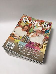"Back issues of ""The Quilt Life"" magazine"