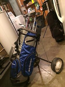 RH Golf Clubs, Bag and Pull Cart **REDUCED**