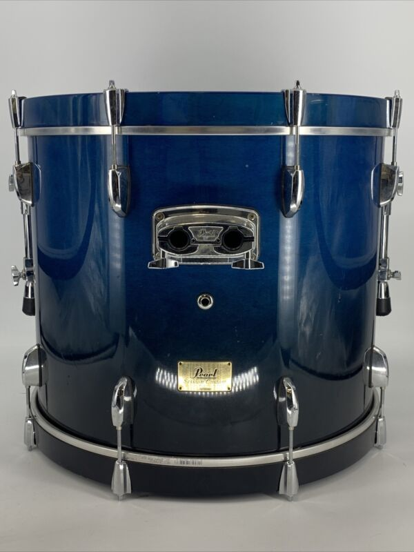 """Pearl Session Custom Maple 22"""" Kick Bass Drum w Blue Finish & Evans EMAD Heads"""