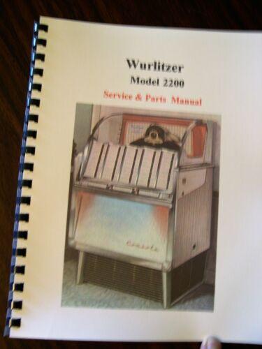 Wurlitzer Model 2200 Jukebox Manual