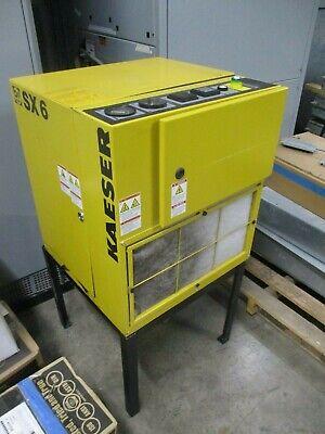 Kaeser Sx 6 Rotary Screw Air Compressor 1.9693.30171 17cfm 145psig 5hp 208v Used