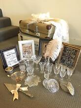Vintage wedding decorations glassware, luggage, silverware Hurstville Hurstville Area Preview