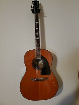 1973 Bruno Conqueror Parlor Guitar w/ Rosewood Back and Sides! Made in Japan