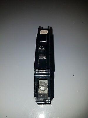 Zinsco Gte Sylvania 20 Amp 120240vac Type Q Single Pole Circuit Breaker
