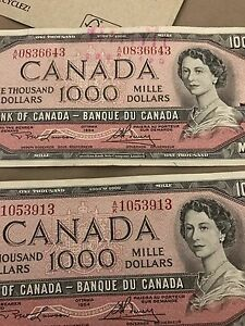 Selling 4 x 1954 1000$ in mint condition Gatineau Ottawa / Gatineau Area image 2