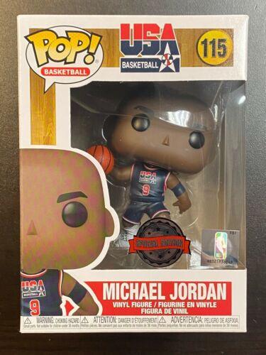 FUNKO POP NBA MICHAEL JORDAN BLACK JERSEY #115 SPECIAL EDITION EXCLUSIVE IN HAND