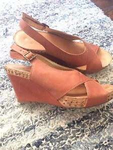 Lovely Leather Wedge Heels