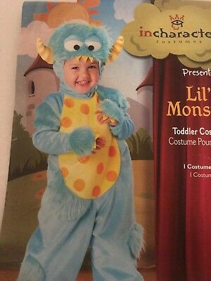 Lil' Monster Costume Halloween Baby Toddler S(3T) (Lil Monster Toddler Costume)