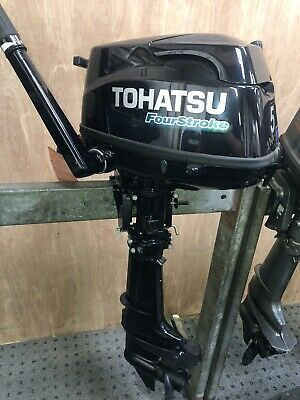 5HP TOHATSU MFS5CS 4-STROKE SHORT SHAFT TILLER CONTROL OUTBOARD 7 YEARS WARRANTY