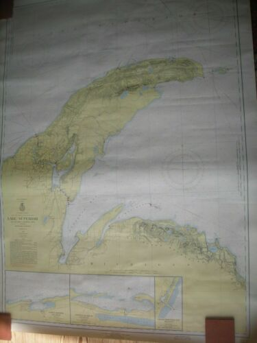 Vintage Lake Superior Big Bay Point to Redridge Mich. Nautical Chart No 94 1958