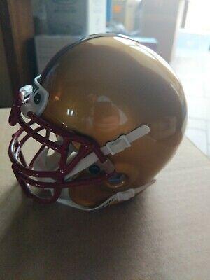 Boston COLLEGE EAGLES SCHUTT Mini Helmet NCAA ACC College Football GOLD SHINY