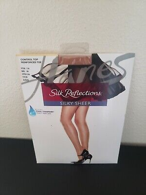 - Silk Reflections Silky Sheer size CD panty and leg cool comfort