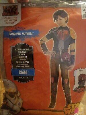 Girls SABINE WREN Costume Star Wars Rebels Medium - Sabine Star Wars Rebels Kostüm