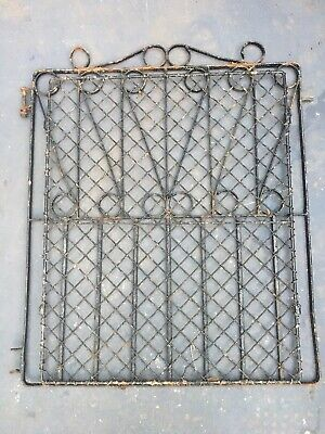OLD Reclaimed WROUGHT IRON Gate Heavy Solid 1920's 1930's Victorian