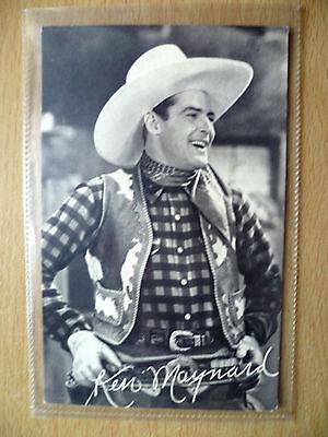 Cinema Star Real Photo Postcard- KEN MAYNARD with Autograph (printed)