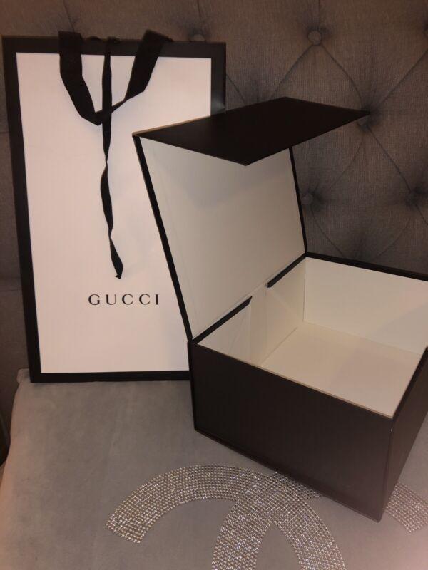 🎁Genuine Gucci Gift Bag 👜 + Gift Box Magnetic Closer ( 27x20x11cm)
