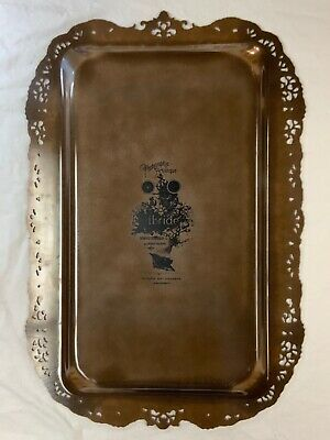IBRIDE BERNARDO RAVEN RECTANGLE TRAY Used Black bird and bee French