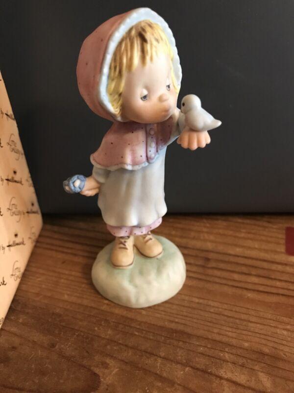 Betsy Clark Nature's Friend Bluebird Hallmark Porcelin Figurine Vintage NIB