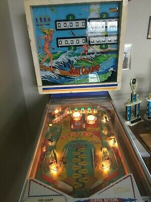 Gottlieb Surf Champ Pinball Machine-4 Player Versión-1976