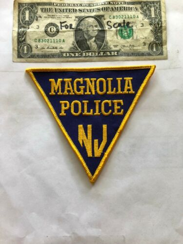 Magnolia New Jersey Police Patch un-sewn Great Shape