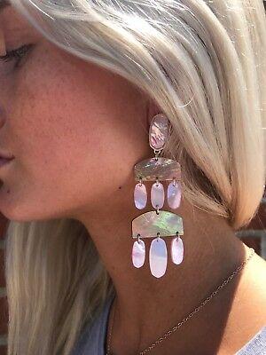 NWT Kendra Scott Emmet Earrings in Gold Blush Brown Mix