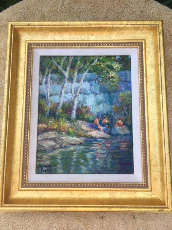 Florida Artist Alvina Balog Origional Oil on Canvas.