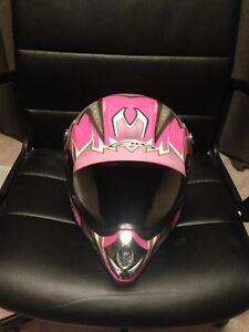 Youth MX helmet .Girls , ATV small. EVS neck brace .