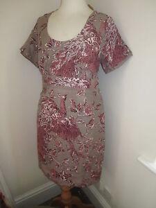JOULES-Nadia-Linen-Silk-Dress-RRP-129-Sz-8-10-FreeUKP-P