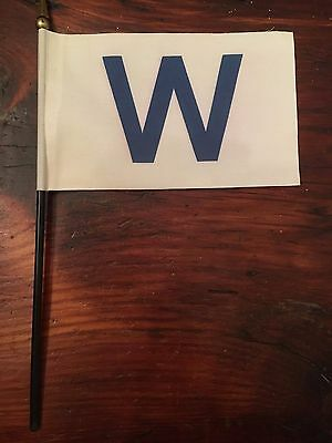 Chicago Cubs W  Win Mini Desk Flag    6