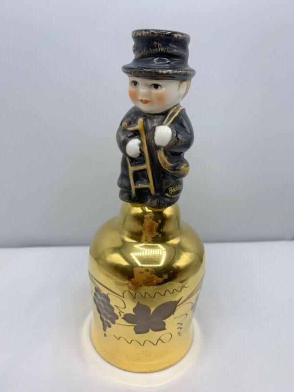 VTG BOCKLING GOEBEL HUMMEL GERMANY BELL- CHIMNEY SWEEP-  ETCHED GOLD