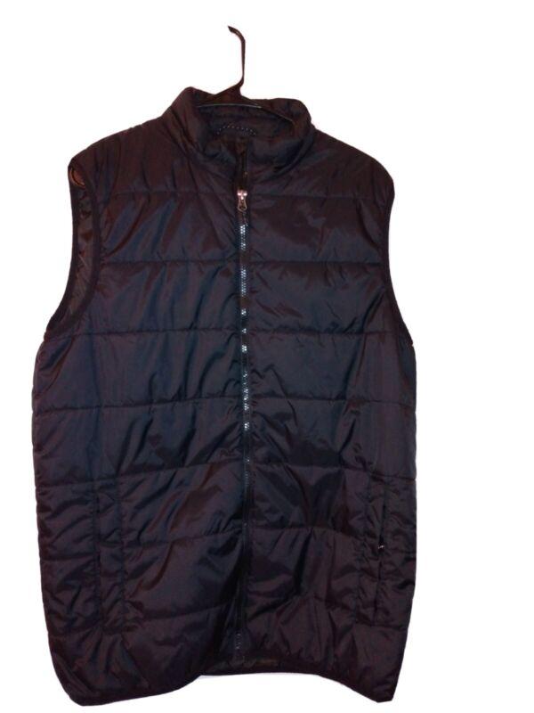 Mens Swisstech+ Puff Sleeveless Jacket Quilted Black, Sz M 38/40