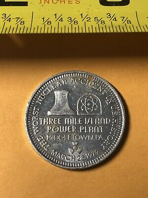 Vintage Coin - 1979 Three Mile Island Nuclear Meltdown Disaster
