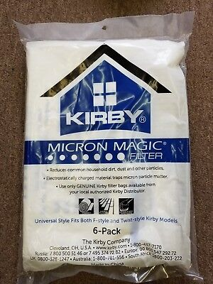 KIRBY VACUUM vaccum white magic BAGS 6 Pack Universal Style 4 ALL Kirby Models for sale  Shipping to India