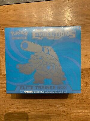 Pokemon TCG - XY Evolutions Elite Trainer Box - Blastoise Art - Factory Sealed!!