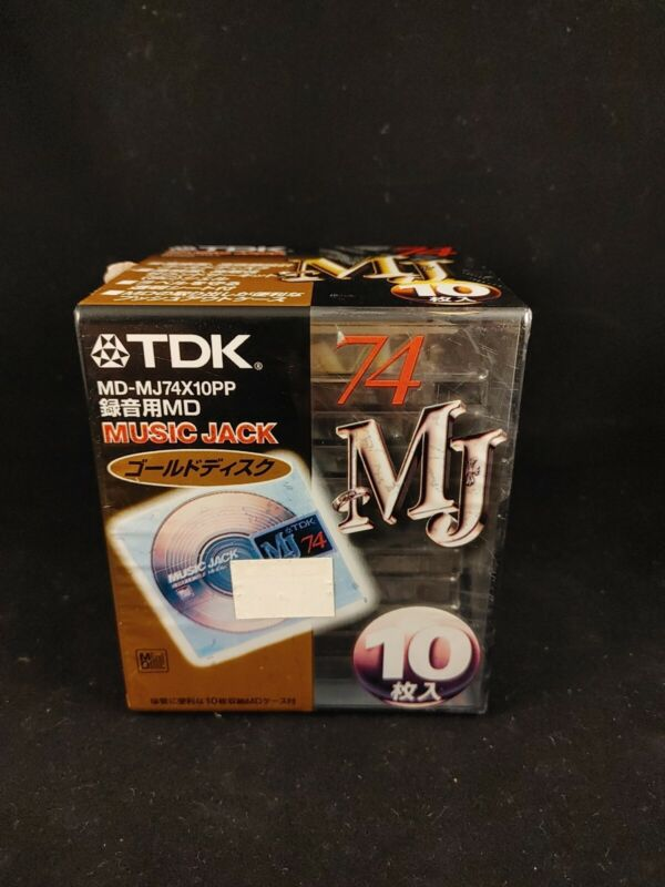 TDK Music Jack 10 pack Minidisc pack sealed rare