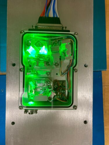 Laser Quantum GEM Display Laser 300 mW Custom Made clear Case Top! Fiber Coupled