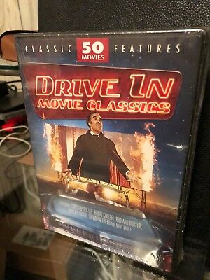 Drive-In Movie Classics 50 Movie (DVD) Rattlers, Twister's Revenge, Trauma, NEW!