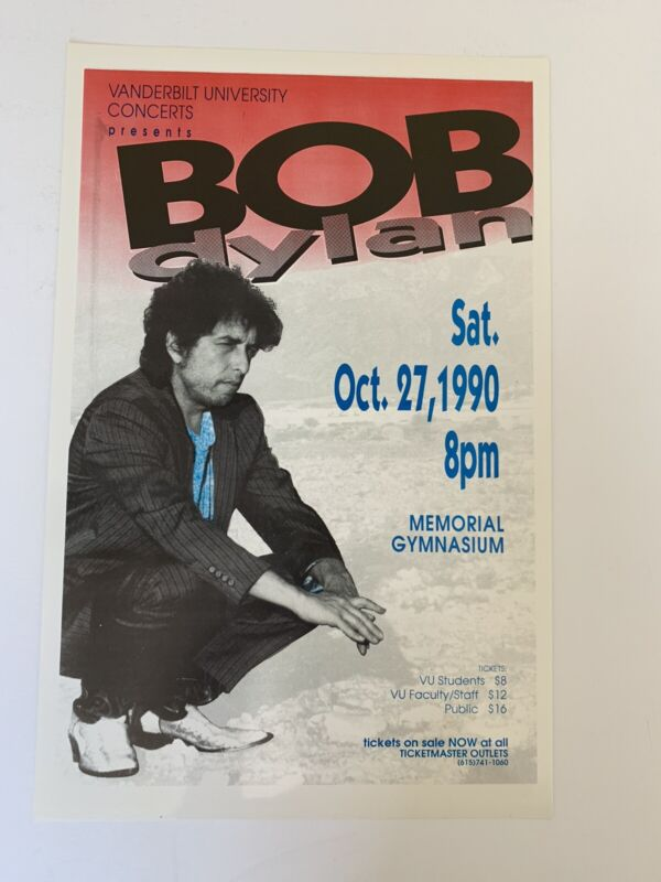Bob Dylan Original Concert Poster is from a show on Saturday, October 27, 1990