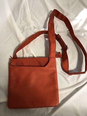 Tucano FinaCity Orange Leather Crossbody Outright Bag for Ipad Mini / Tablet New