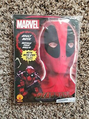 Marvel Deadpool Costume Fabric Overhead Mask Adult One Size - Overhead Masks