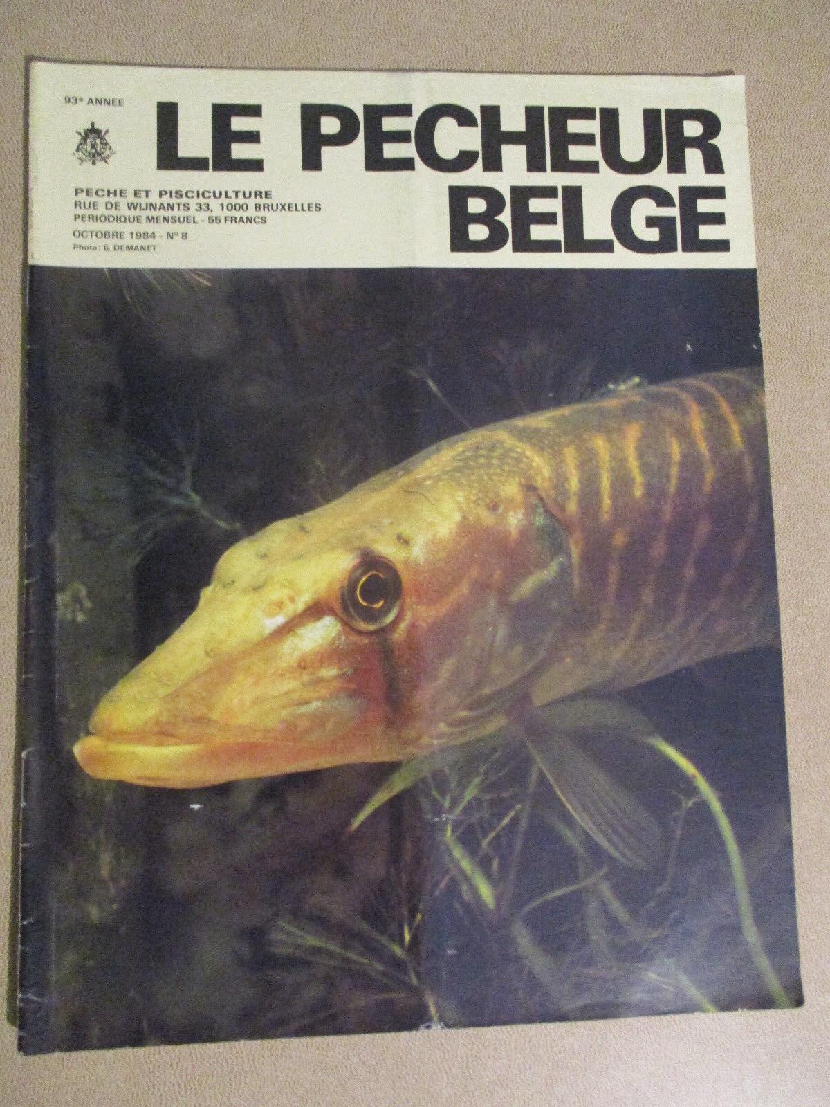 LE PECHEUR BELGE: N°8: OCTOBRE 1984: PECHE ET PISCICULTURE