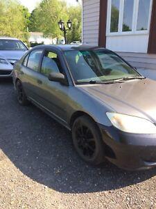 Honda Civic 2005 vente ou échange
