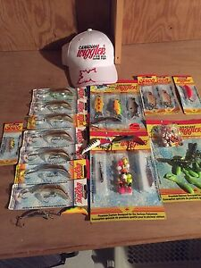 Large group of Canadian Wiggler fishing lures