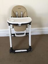 Peg Perego Siesta High Chair in 'Noce' Fabric Henley Beach Charles Sturt Area Preview