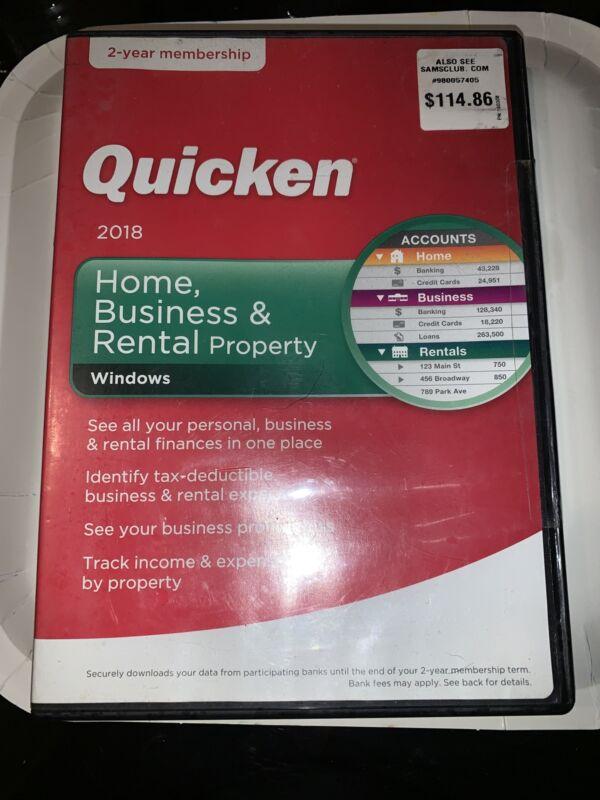 Quicken Home Business & Rental Property 2018 Windows