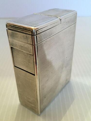 ANTIQUE VINTAGE ART DECO STERLING SILVER PACK SIZE CIGARETTE CASE 120gr