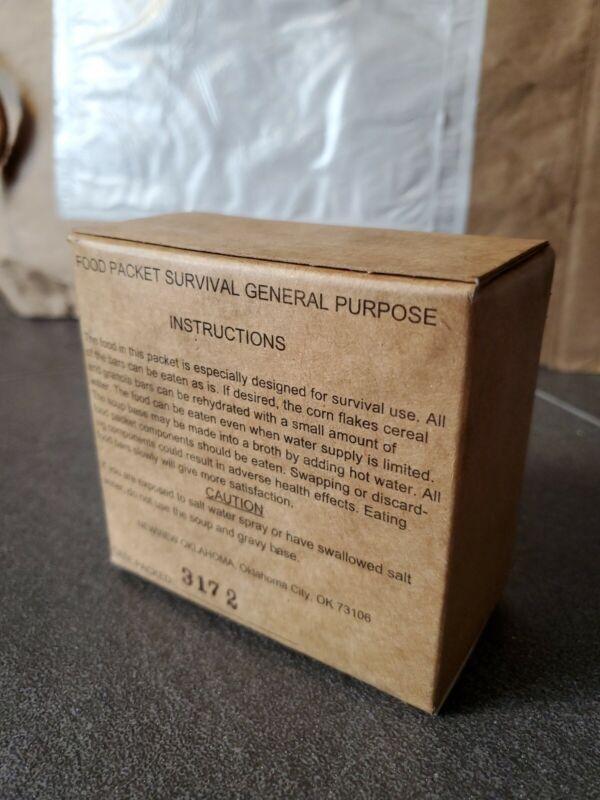 USAF Survival Vest General Purpose Food Packet Sealed Box Ration Mfd 2013