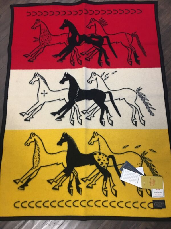 """Pendleton Future Of The Plain Baby Blanket  32""""x44""""  Made in USA!!"""