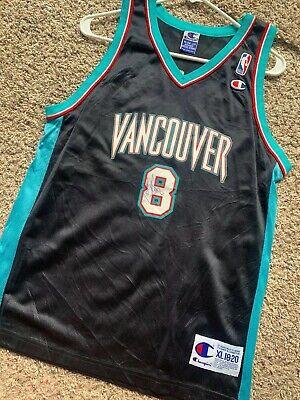 Vintage Champion Vancouver Grizzlies Micheal Dickerson Auto'd Jersey Rare -