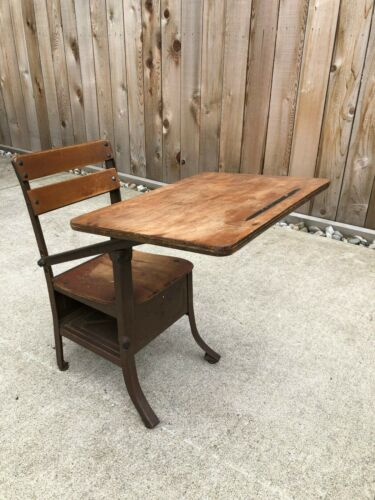 Vintage Antique Childrens Desk all Original American Seating Company Chicago